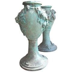Pair Art Nouveau Terrecotta Pots
