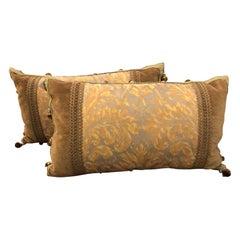 Pair of Authentic Fortuny Pillows with Decor De Paris Trim