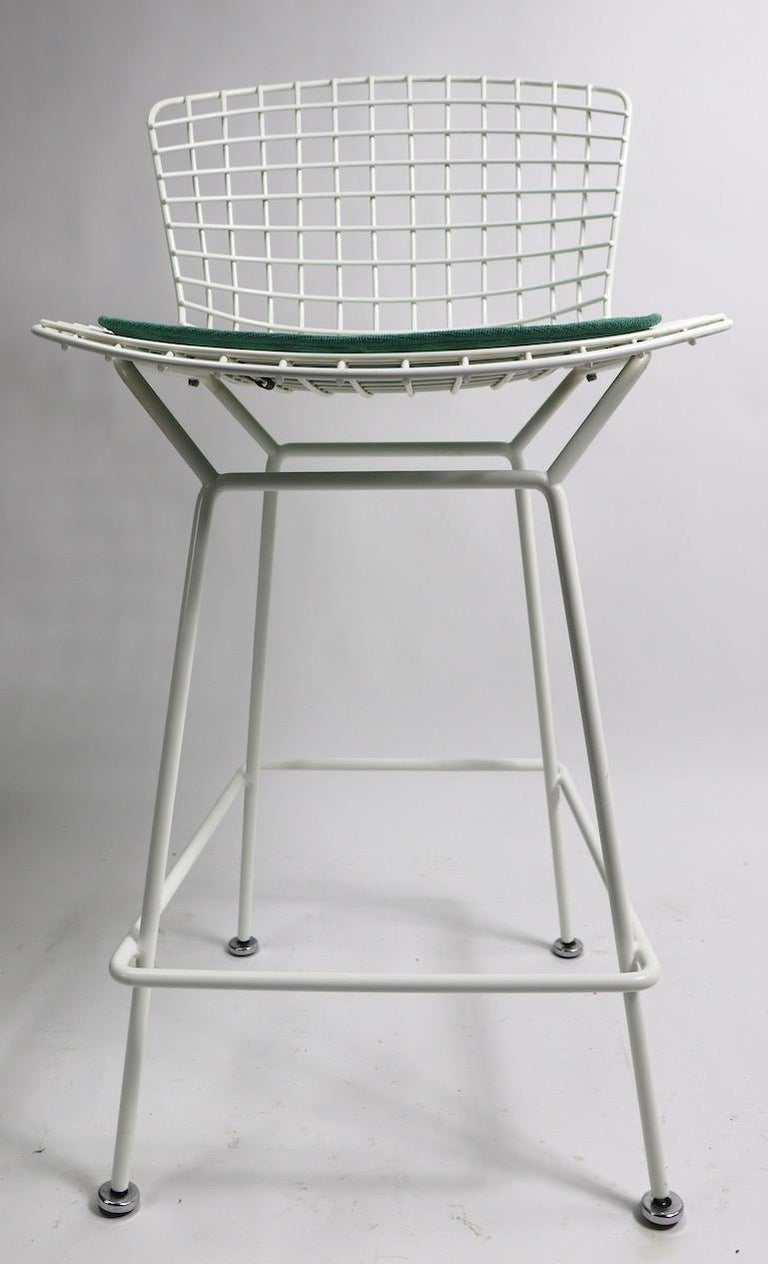 Pair of Bar Counter Stools by Bertoia for Knoll For Sale 4