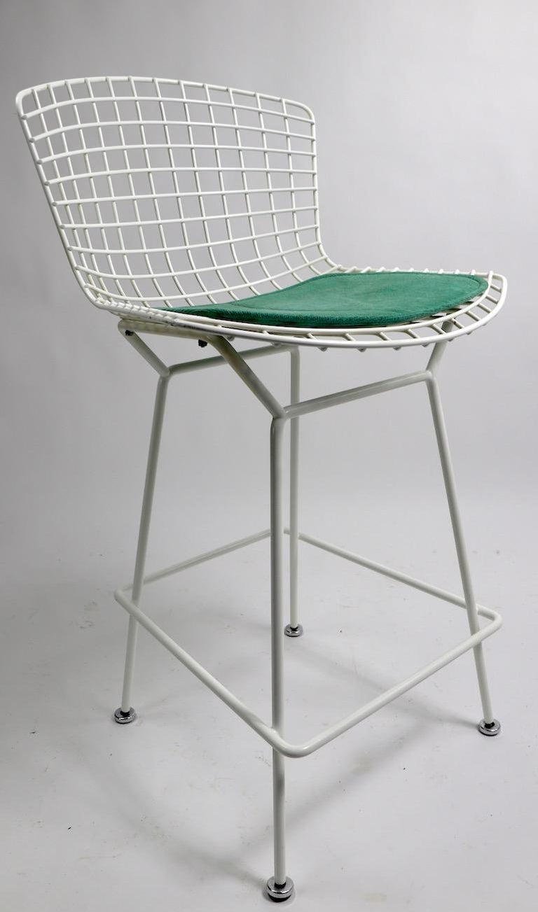Pair of Bar Counter Stools by Bertoia for Knoll For Sale 5