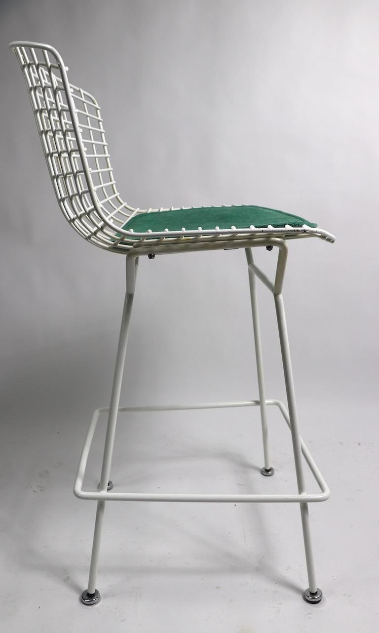Pair of Bar Counter Stools by Bertoia for Knoll For Sale 6