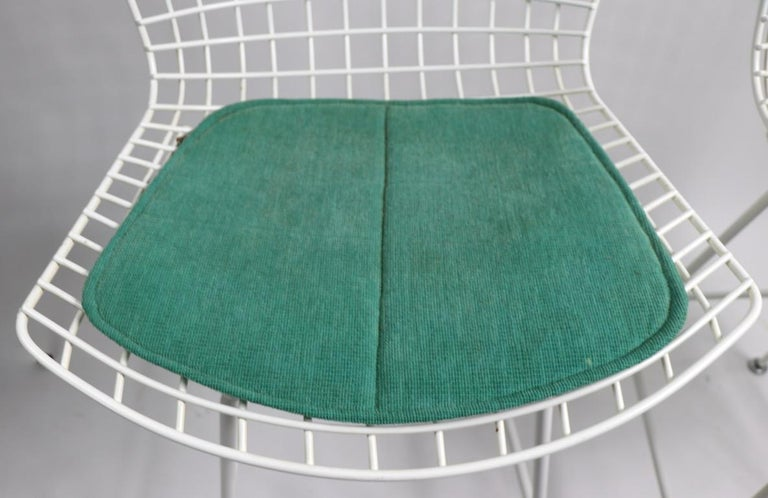 Mid-Century Modern Pair of Bar Counter Stools by Bertoia for Knoll For Sale