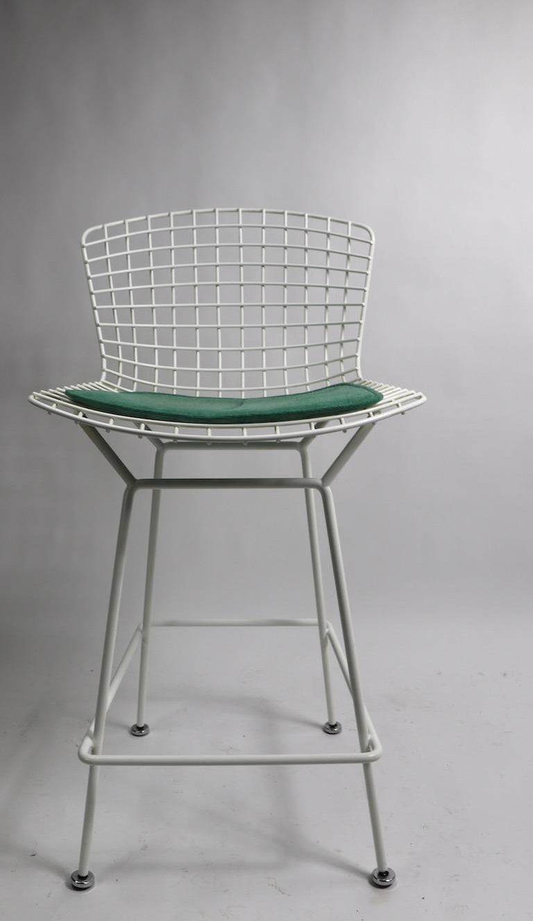 Pair of Bar Counter Stools by Bertoia for Knoll For Sale 3