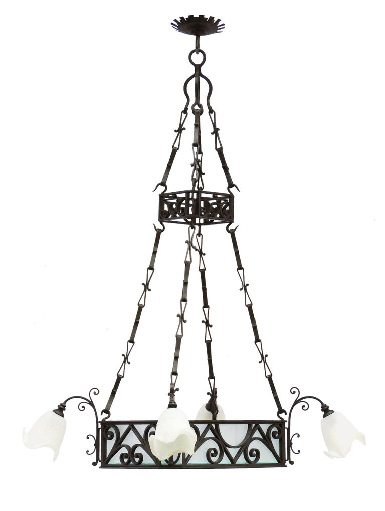 Pair Of Belle 201 Poque Chandeliers Large French Antique