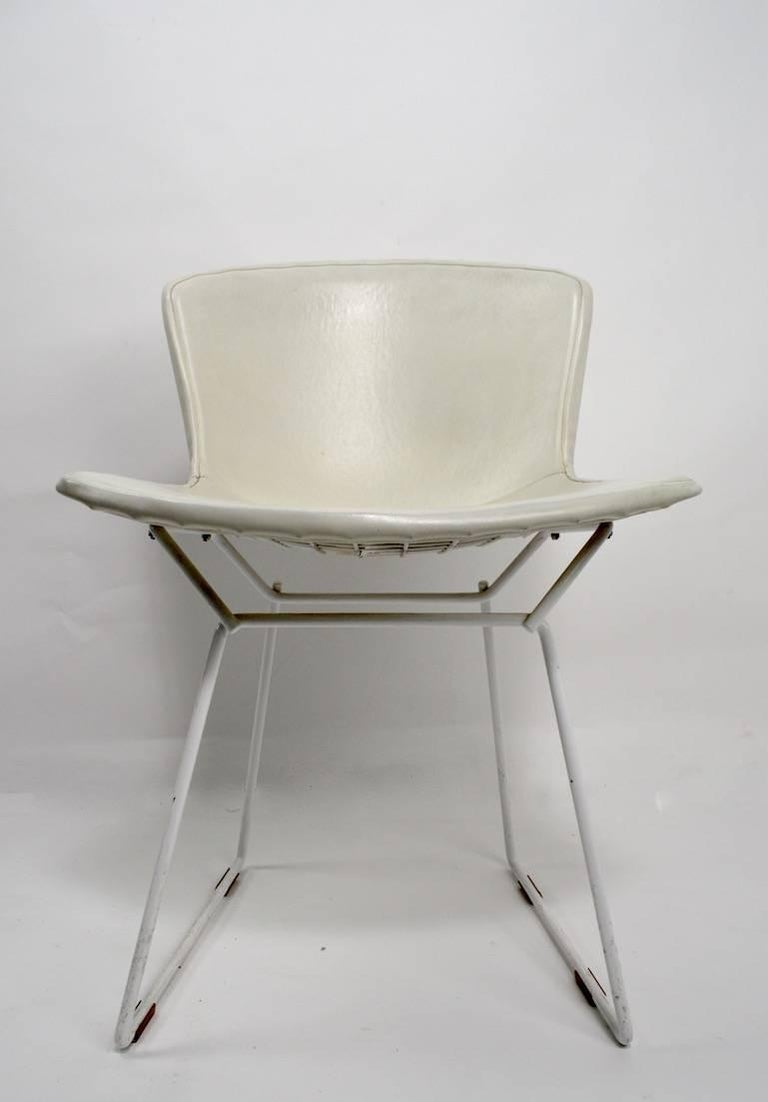 Pair of Bertoia for Knoll Dining Chairs In Good Condition For Sale In New York, NY
