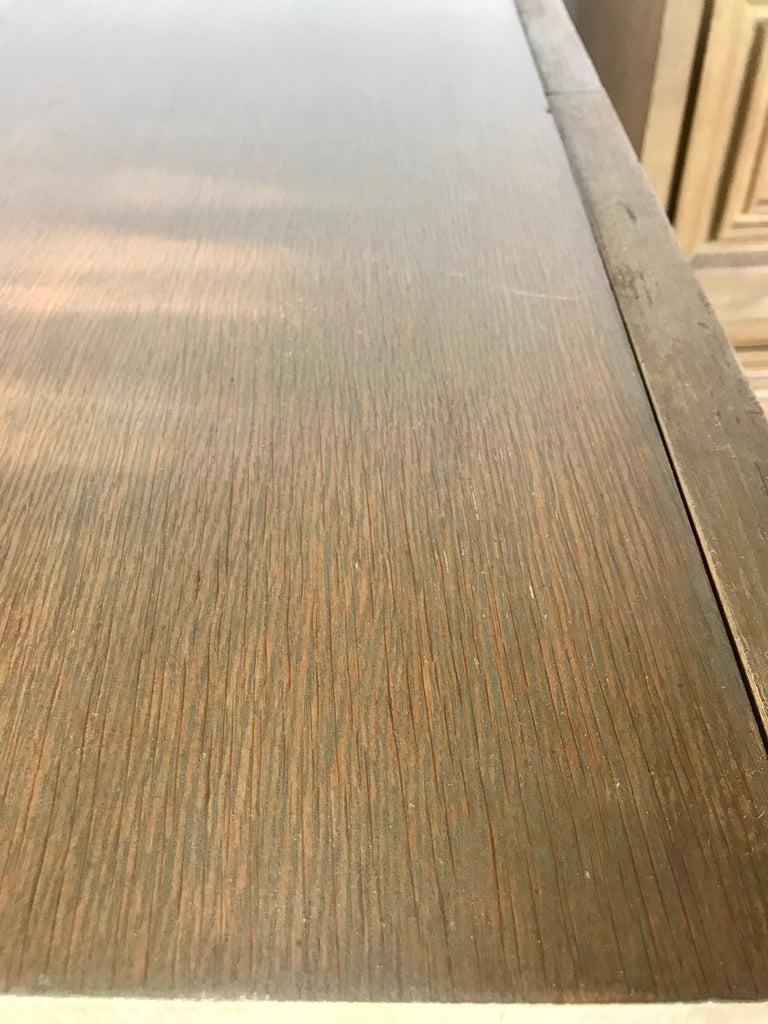 Pair of Bi-fold Panel Front 5-Drawer Cerused Dressers by Romweber Regency Modern For Sale 10
