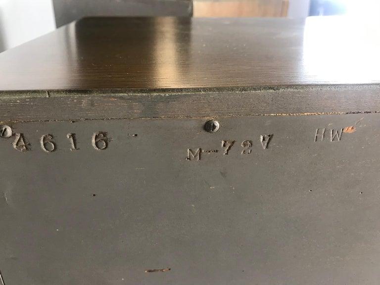 Pair of Bi-fold Panel Front 5-Drawer Cerused Dressers by Romweber Regency Modern For Sale 11