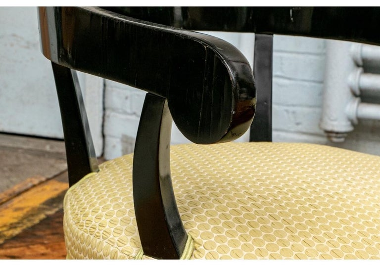 Pair of Biedermeier Black Lacquered Armchairs For Sale 6