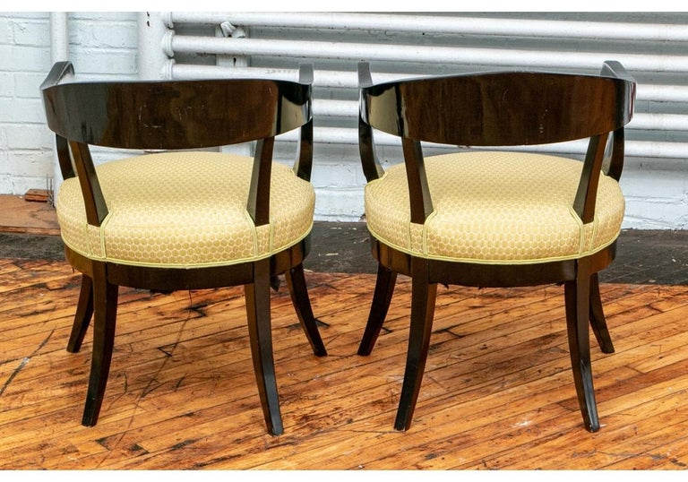 Pair of Biedermeier Black Lacquered Armchairs For Sale 10