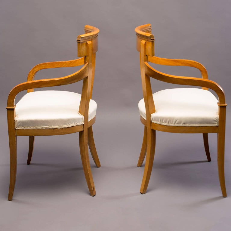 Belgian Pair of Biedermeier Style Armchairs For Sale