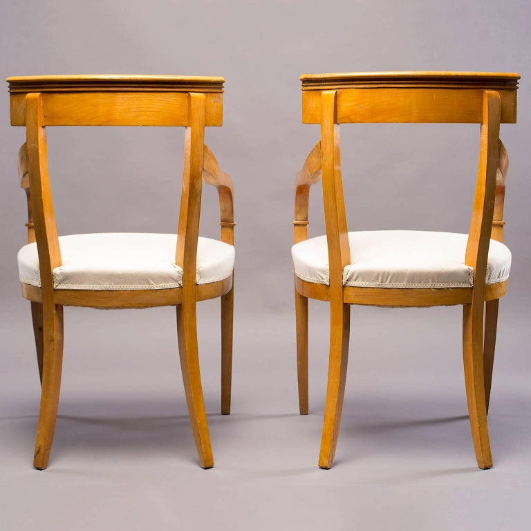 Pair of Biedermeier Style Armchairs In Good Condition For Sale In Troy, MI