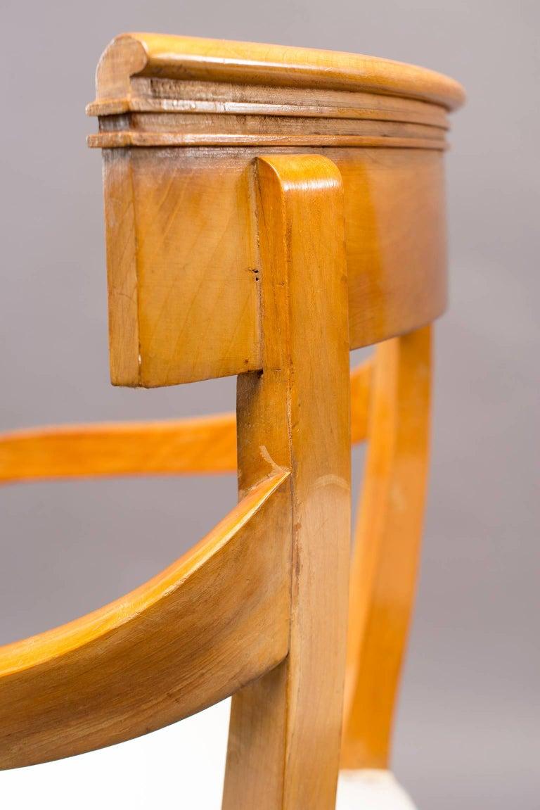 Pair of Biedermeier Style Armchairs For Sale 2