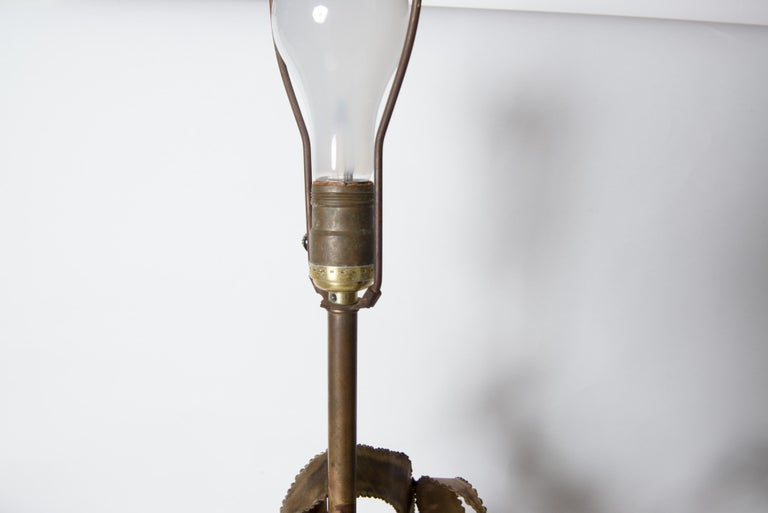 Pair of Bijan Brass Brutalist Lamps for Laurel For Sale 11