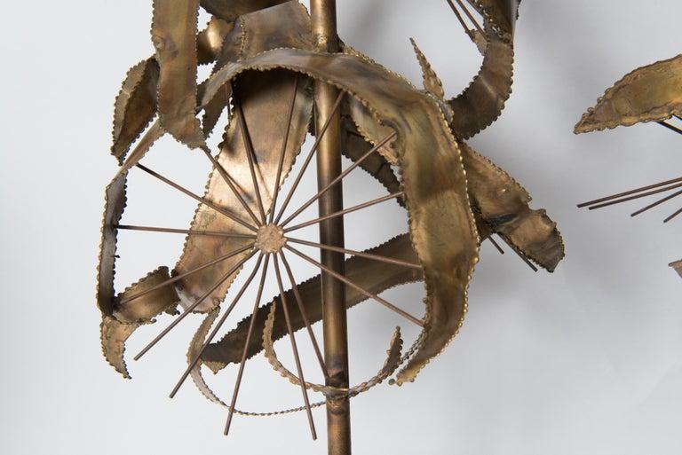 Pair of Bijan Brass Brutalist Lamps for Laurel For Sale 3
