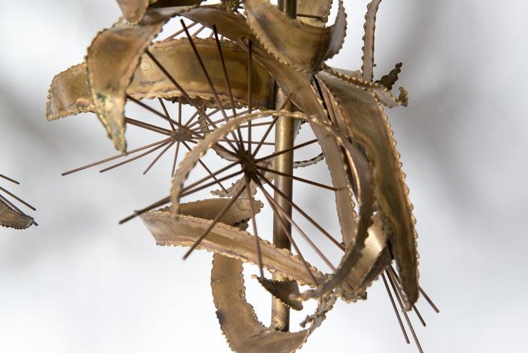 Pair of Bijan Brass Brutalist Lamps for Laurel For Sale 4