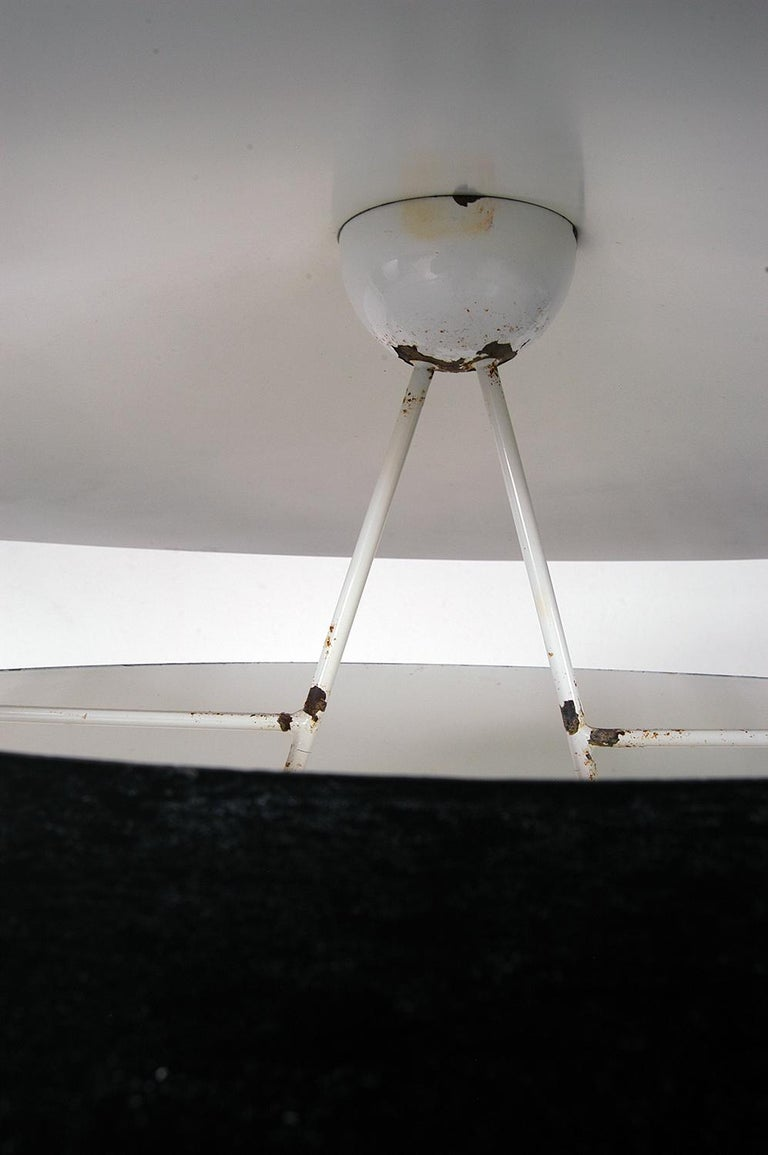 Pair of Black White Italian 'Kalaari' Ceiling Pendants Vico Magistretti Oluce For Sale 11