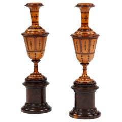 Pair of Boxwood Chimney Ornaments