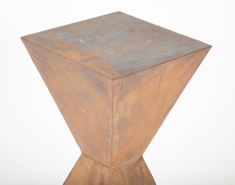 Pair of Brancusi Style Steel Side Tables For Sale 5
