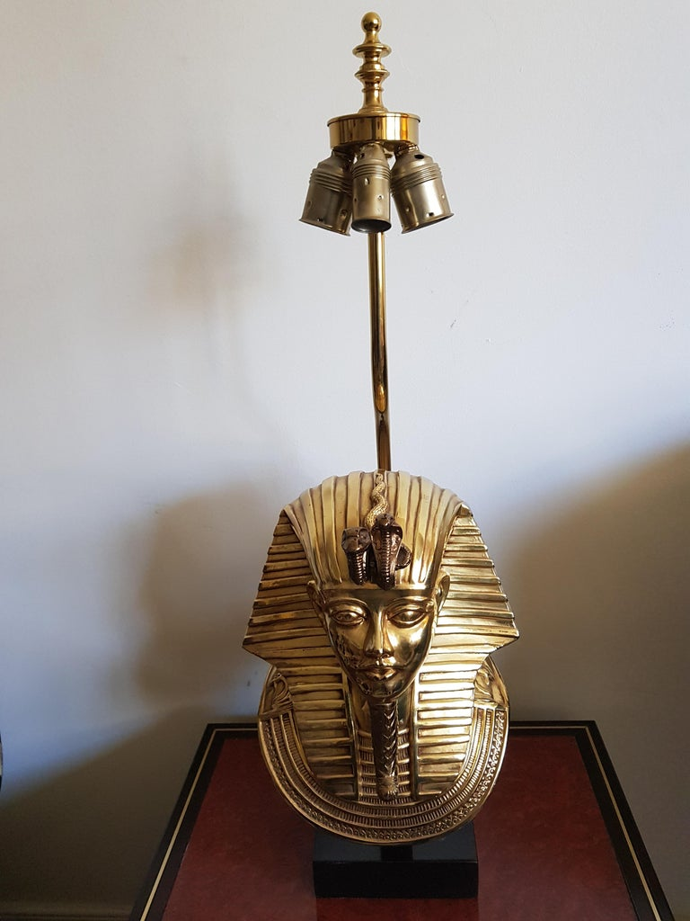 Vintage  Pharaoh Table Lamps, Hollywood Regency For Sale 5