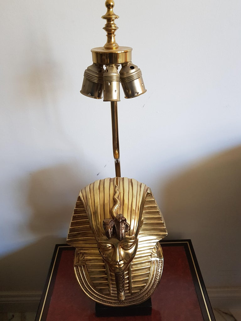 Vintage  Pharaoh Table Lamps, Hollywood Regency For Sale 1