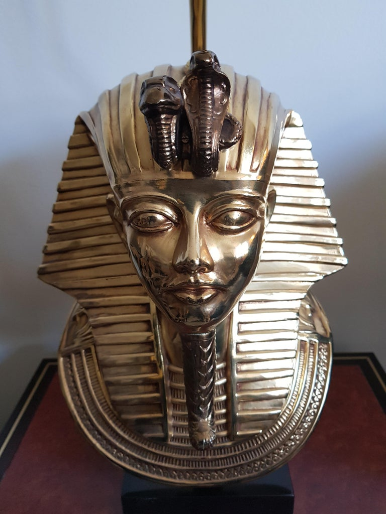 Vintage  Pharaoh Table Lamps, Hollywood Regency For Sale 3