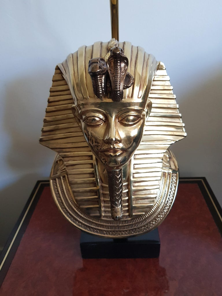 Vintage  Pharaoh Table Lamps, Hollywood Regency For Sale 4