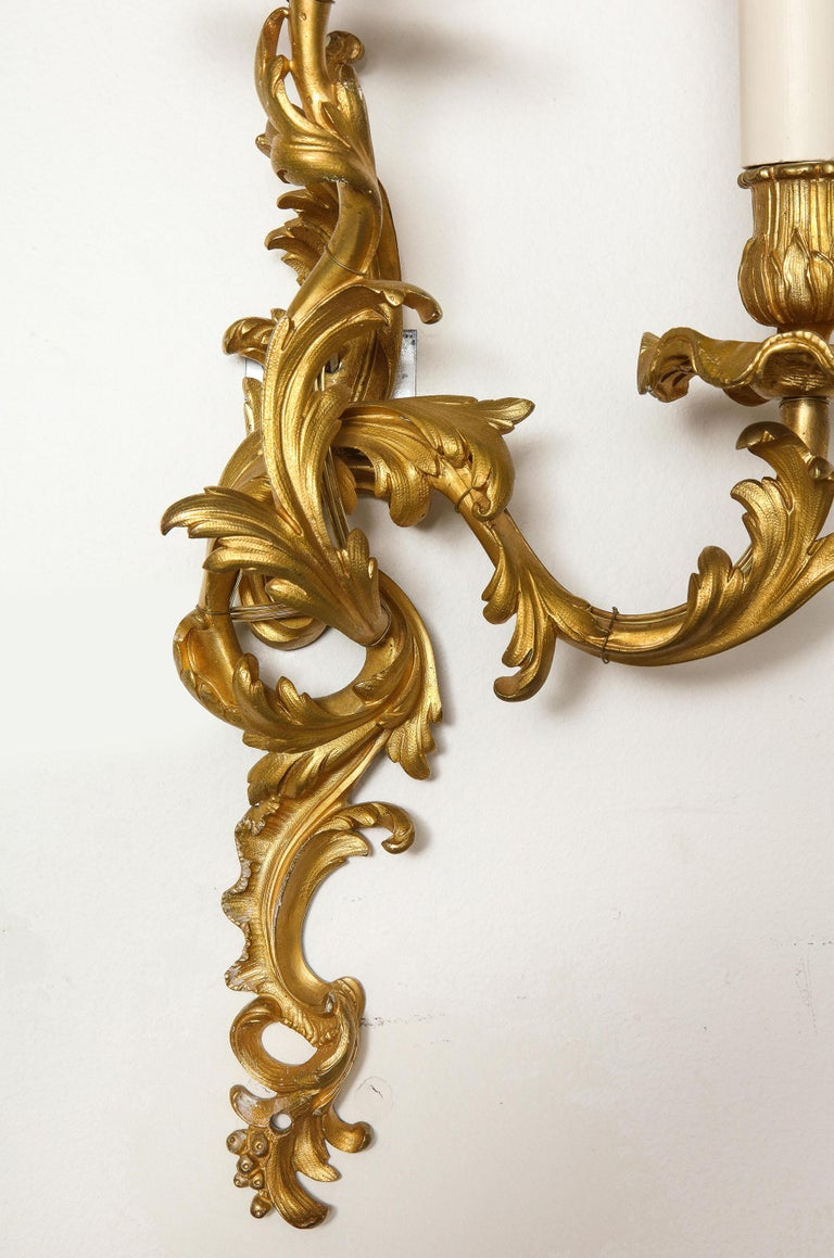Pair of Bronze Sconces For Sale 7