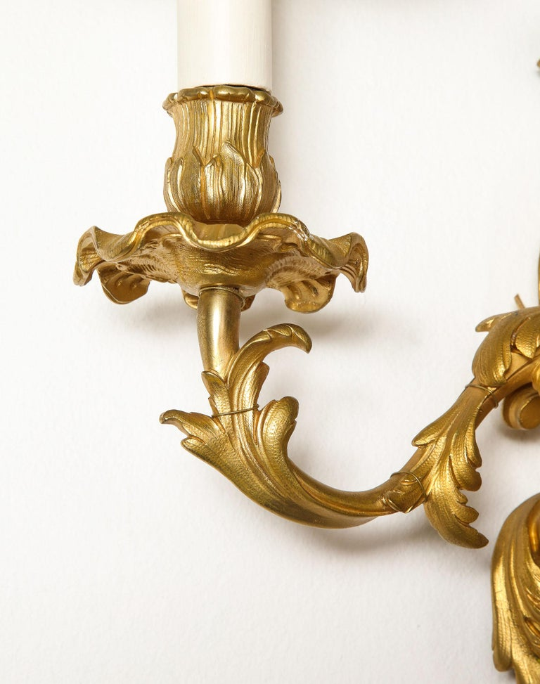 Pair of Bronze Sconces For Sale 3