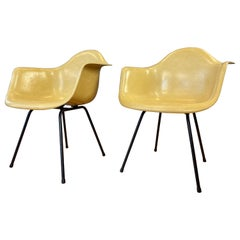 Pair of circa 1960s Charles Eames Fiberglass Shell Armchair for Herman Miller