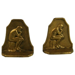 Pair of Caldwell Thinker Bookends, 1929