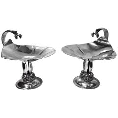 Pair of Carl Poul Petersen Sterling Silver Compotes, Montreal, circa 1940