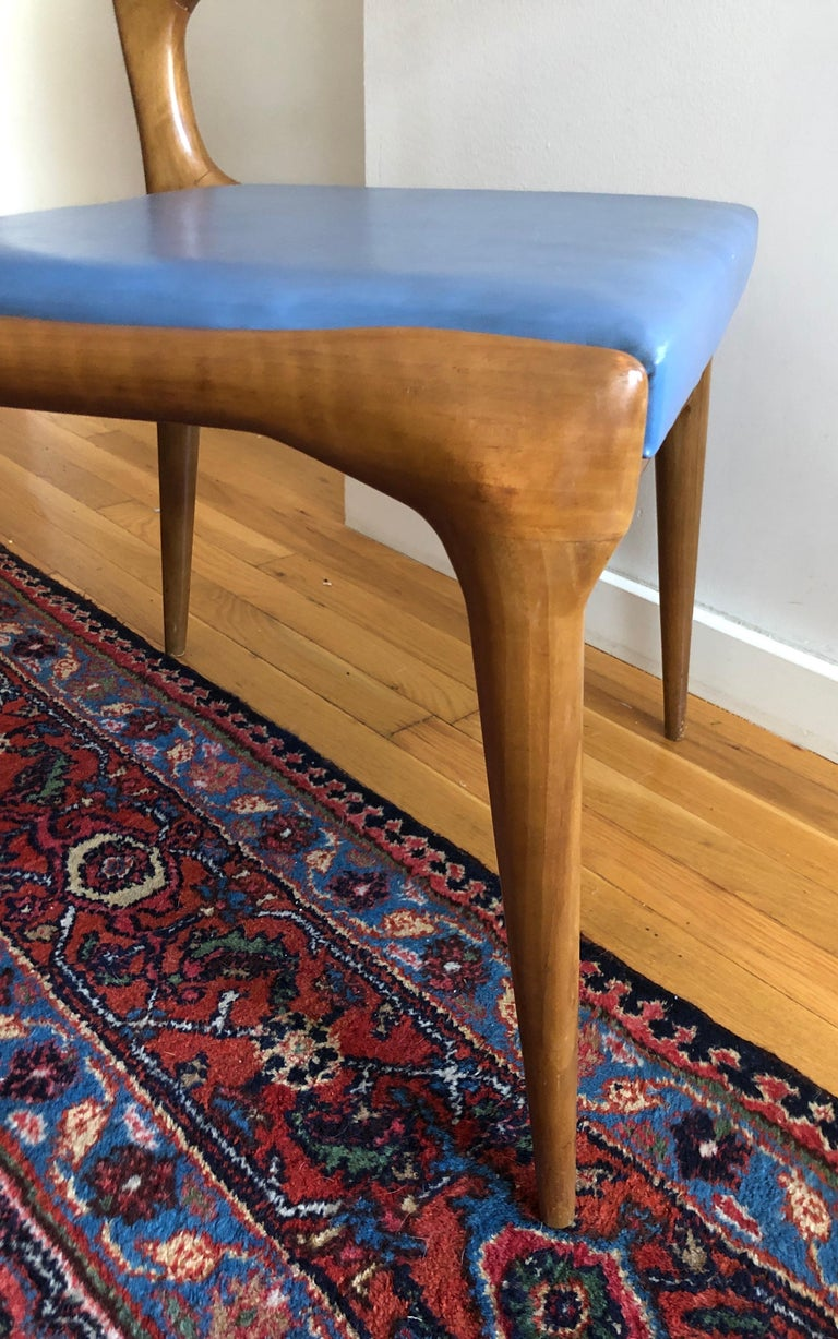 Pair of Carlo De Carli Model 162 Armchairs In Good Condition For Sale In Hudson, NY