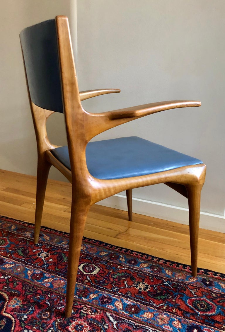 Pair of Carlo De Carli Model 162 Armchairs For Sale 2