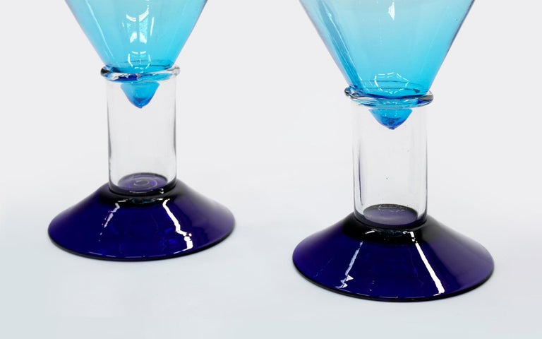 Post-Modern Pair of Cassiopeia Vases, Marco Zanini for Memphis, Milano, 1982, Each is Signed For Sale