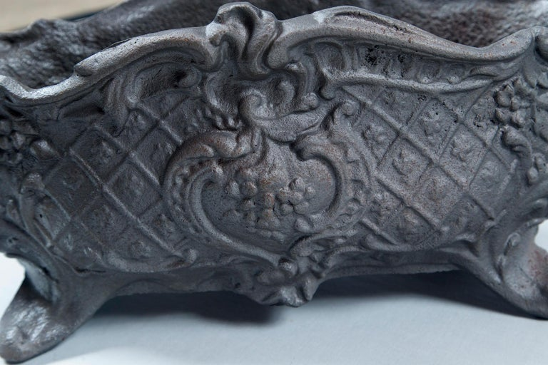 Pair of Cast Iron Footed Planters, France, circa 1900 For Sale 4