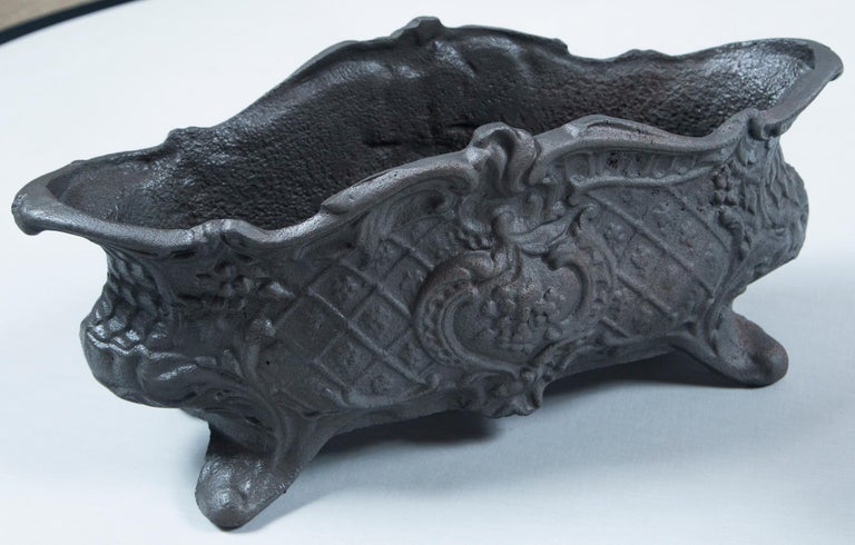 Pair of Cast Iron Footed Planters, France, circa 1900 For Sale 1