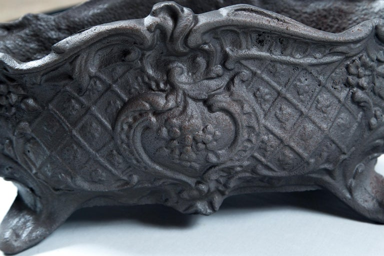 Pair of Cast Iron Footed Planters, France, circa 1900 For Sale 3