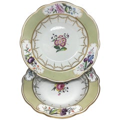 Pair of Chamberlain Worcester Soup Plates