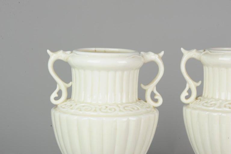 Pair of Chinese 1978 Dehua Monochrome White Porcelain Vases China PRoC For Sale 8