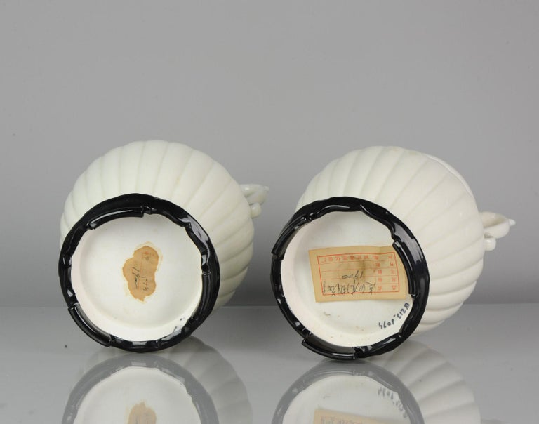 Pair of Chinese 1978 Dehua Monochrome White Porcelain Vases China PRoC For Sale 12