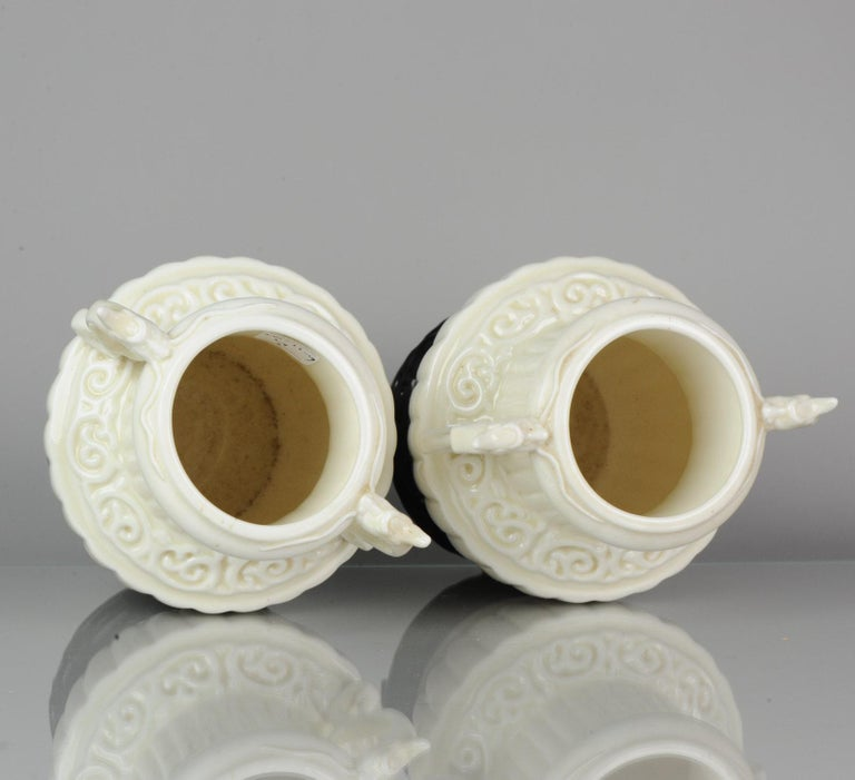 Pair of Chinese 1978 Dehua Monochrome White Porcelain Vases China PRoC For Sale 14