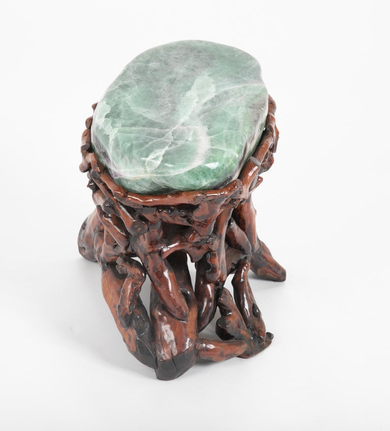 20th Century Pair of Chinese Fluorite Root Stools For Sale