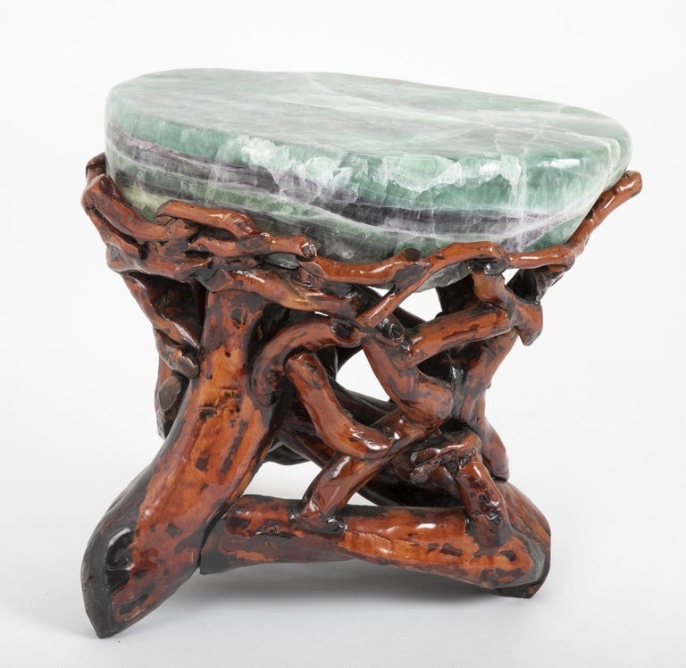 Pair of Chinese Fluorite Root Stools For Sale 1