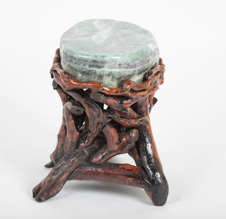 Pair of Chinese Fluorite Root Stools For Sale 2