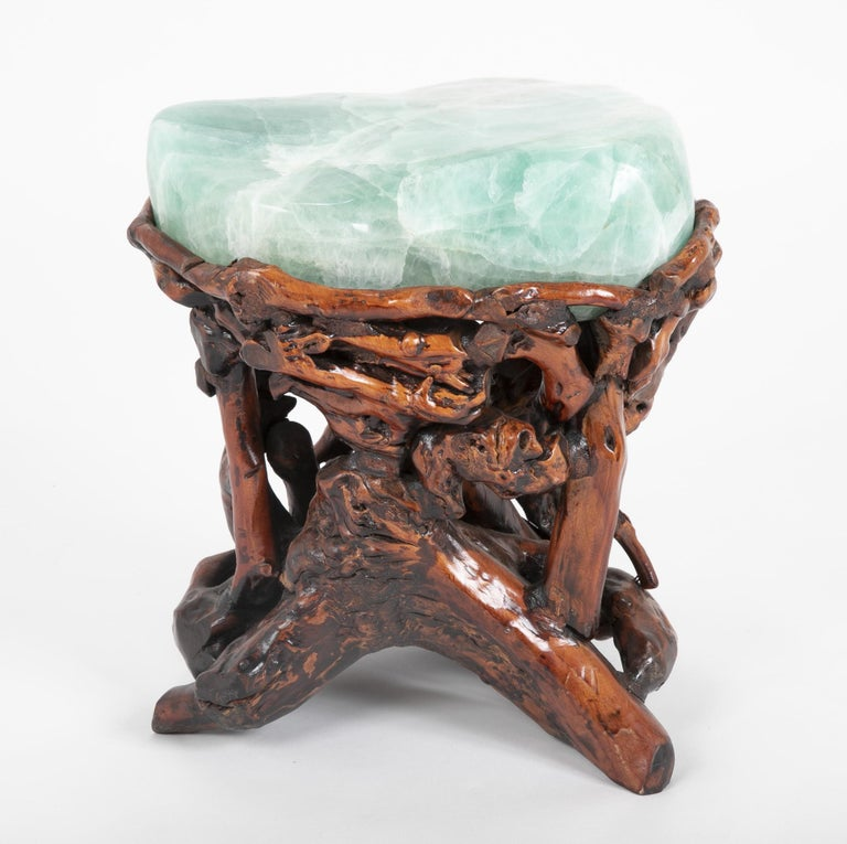 Pair of Chinese Fluorite Root Stools For Sale 4