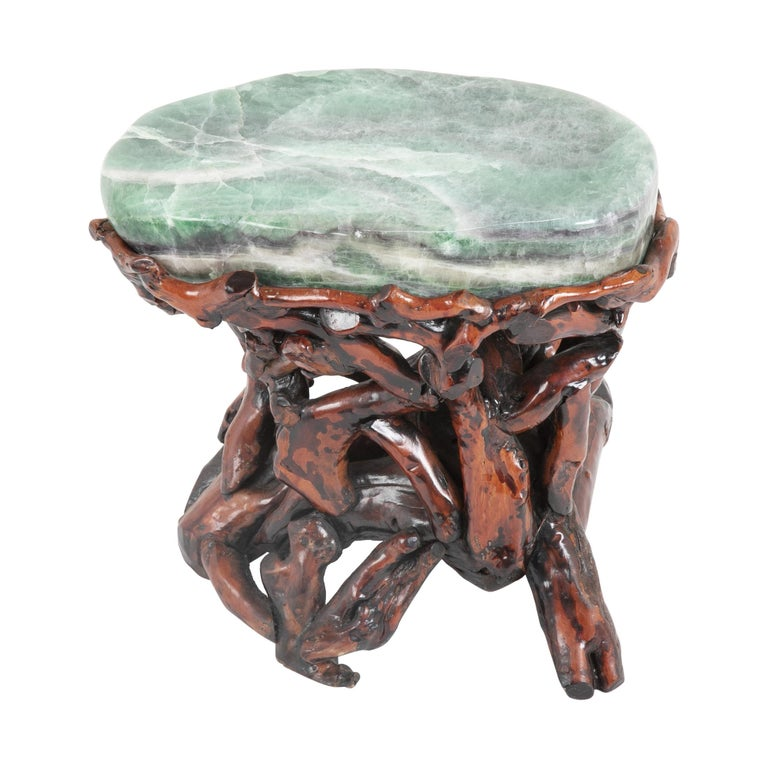 Pair of Chinese Fluorite Root Stools For Sale