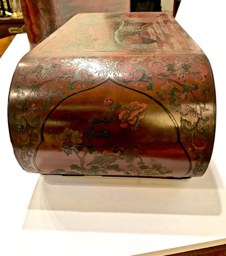 Pair Chinese Lacquered Scroll-End Stands, Late 19th-Early 20th Centurya For Sale 2