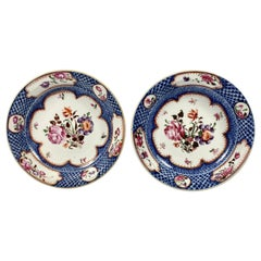 Pair of Chinese Porcelain Dishes, Compagnie des Indes circa 1760 Qianlong Period