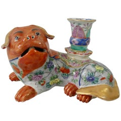 Pair of Chinese Porcelain Lion Dogs, circa 1830, Daoguang Period