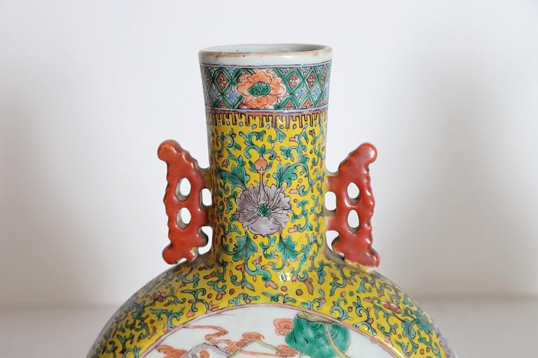 Pair of Chinese Porcelain Moon Flask Vases For Sale 5